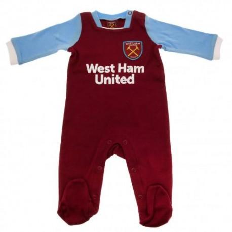 Kojenecké pyžamo West Ham United FC (typ MT) velikost 9-12 měsíců