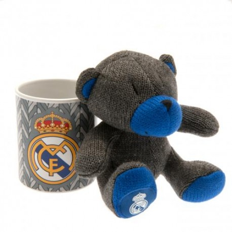 Hrnek s plyšovým medvědem Real Madrid FC (sada)