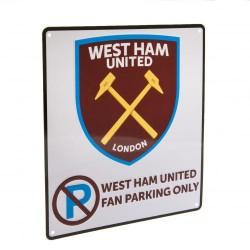 Plechová cedulka West Ham United FC No Parking (typ 17)