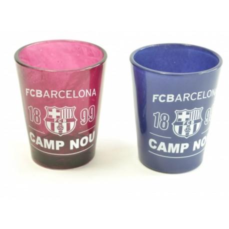 Sada 2ks skleniček panáků Barcelona FC (typ 18)