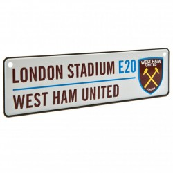 Plechová cedulka West Ham United FC do okna