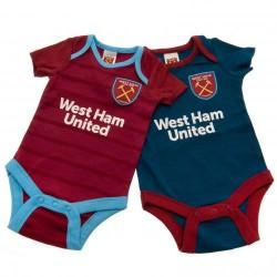 Kojenecké body West Ham United FC (2 ks) (typ BL) velikost 3-6 měsíců
