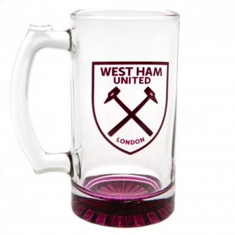 Pivní sklenice s uchem West Ham United FC (typ 18)