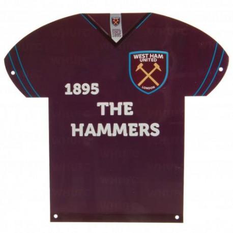 Plechová cedulka dres West Ham United FC