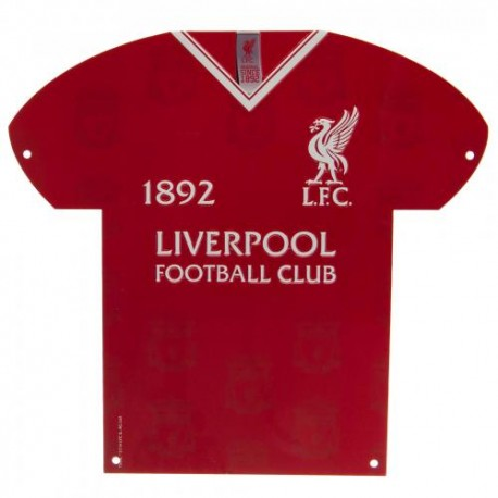 Plechová cedulka dres Liverpool FC (typ LB)