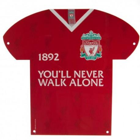 Plechová cedulka dres Liverpool FC (typ CR)