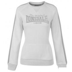 Dámská mikina Lonsdale 48 bílá velikost XL