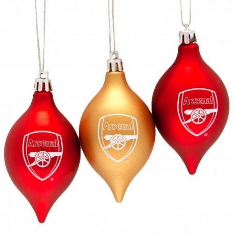 Vánoční ozdoba 3ks Arsenal FC (typ 20)