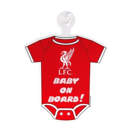 Cedulka do auta Baby on board Liverpool FC (typ body)