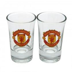 Sada 2ks skleniček panáků Manchester United FC