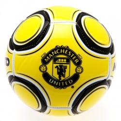 Fotbalový míč Manchester United FC žlutý