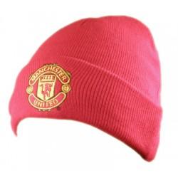 Zimní čepice Manchester United FC červená