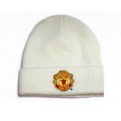 Zimní čepice Manchester United FC bílá