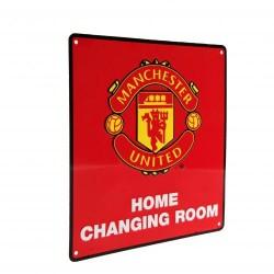 Plechová cedulka Manchester United FC šatna