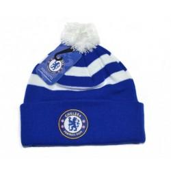 Zimní čepice Chelsea FC s bambulí (typ ST)