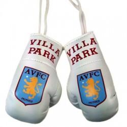 Mini boxovací rukavice do auta Aston Villa FC