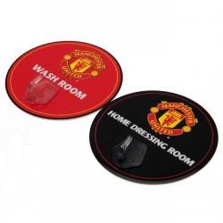 Věšáček plastový Manchester United FC (sada 2ks)