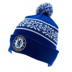 Zimní čepice Chelsea FC s bambulí (typ CH)