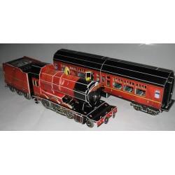 Puzzle 3D Vlak parní lokomotiva, osobní vůz