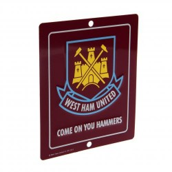 Plechová cedulka West Ham United FC do okna (typ SQ)