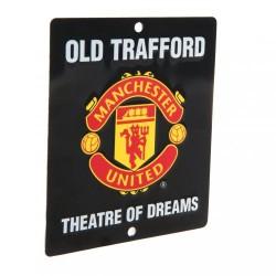 Plechová cedulka Manchester United FC do okna (typ SQ)