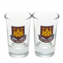 Sada 2ks skleniček panáků West Ham United FC