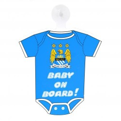 Cedulka do auta Baby on board Manchester City FC (typ body)