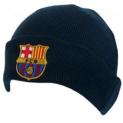 Zimní čepice Barcelona tmavě modrá s lemem