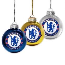 Vánoční ozdoba koule 3ks Chelsea FC (typ 15)