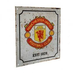 Plechová cedulka Manchester United FC znak retro
