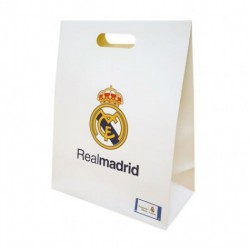 Dárková taška Real Madrid FC střední bílá