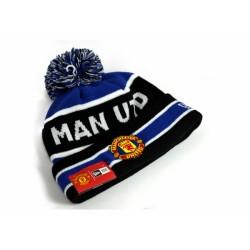 Zimní čepice New Era Manchester United FC s bambulí modrá