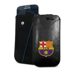 Kožené pouzdro na mobil Barcelona FC (typ menší)