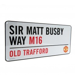 Plechová cedulka Manchester United FC ulice