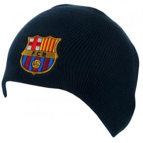 Zimní čepice Barcelona tmavě modrá bez lemu