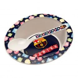 Dětský talířek se lžičkou Barcelona FC (typ 16)