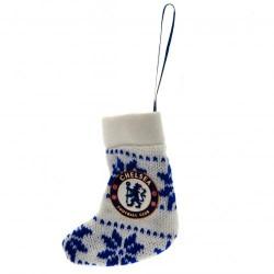 Vánoční ozdoba pletená ponožka Chelsea FC