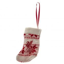 Vánoční ozdoba pletená ponožka Liverpool FC