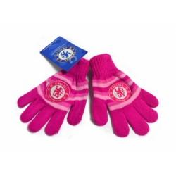 Zimní rukavice dětské Chelsea FC růžové