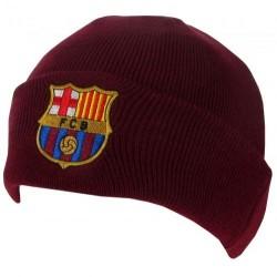 Zimní čepice Barcelona hnědá s lemem