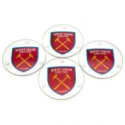 Skleněné podtácky West Ham United FC (typ RD)