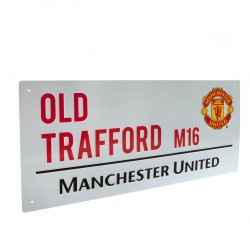 Plechová cedulka Manchester United FC ulice (typ 16)