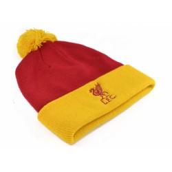 Zimní čepice Liverpool FC s bambulí červeno-žlutá